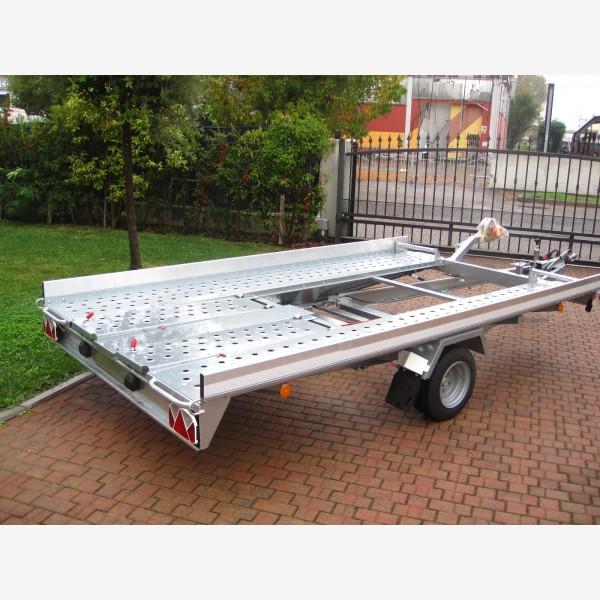 carrello trasporto auto basculante con rampe posteriori action srl. Black Bedroom Furniture Sets. Home Design Ideas