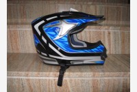 Casco Cross - Blu Metallizzato -