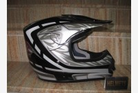 Casco Cross - Nero Metallizzato -